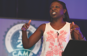 The Rev. Lisa Yebuah teaches during M28. Photo courtesy of M28Camps.