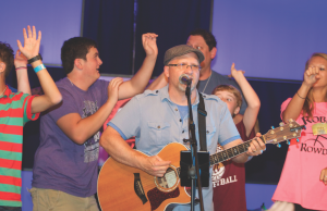 The Rev. Eddie Willis leads worship. Photo courtesy of M28Camps.