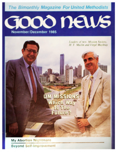 Virgil Maybray (right) and H.T. Maclin on cover of Good News in 1985