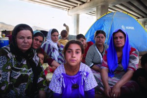 With no place to go, and no one to help, Yazidi families now live under freeway bridges in cities like Dohuk, Iraq. Jeff Gardner, Picture Christians Project, www.picturechristians.org.