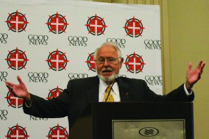 """""""The Church must live and thrive and do its work – not by getting organized – but through responsiveness to the Holy Spirit,"""" Dr. Maxie Dunnam said at the Briefing Breakfast. """"The power of ministry and mission is the Holy Spirit. Revival and renewal will not come by our own will, certainly not by our own efforts, but by our responsiveness and our surrender to the Holy Spirit."""""""
