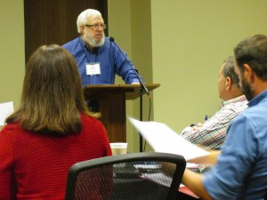 Dr. William J. Abraham, professor at Perkins School of Theology in Dallas, addresses the Wesleyan Covenant Association gathering.