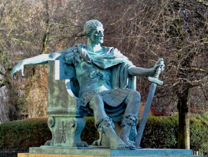 Statue of Constantine in York, England.